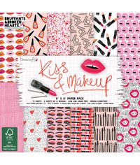 "Kiss & Make Up - Paper Pad 6""X 6"" 72/Pkg"