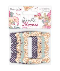 Dovecraft Painted Blooms Lazer-Cut Wooden Frames 12/Pkg