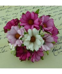 PINK/WHITE - Mulberry Daisy Flower Combo