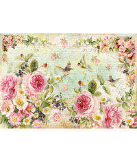English Roses - Decoupage Rice Paper