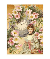 Watch and Woman-Decoupage Rice Paper