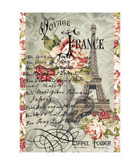 Voyage en France Tour Eiffel-Decoupage Rice Paper