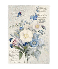 Old England bouquet-Decoupage Rice Paper