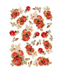 Red Roses-Decoupage Rice Paper
