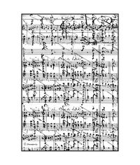 Sheet Music - Decoupage Rice Paper