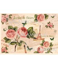 Roses and Eiffel Tower - Easy Paper