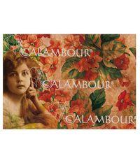 Vintage Little Girl on Floral Background - Easy Paper