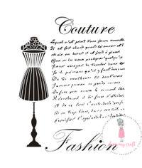 Couture Fashion - Stencil