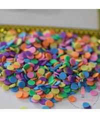 Round Rainbow Confetti - 30 Grams