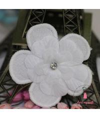 Soft Fabric Flower - White