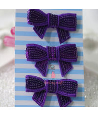 Sparkling Bow - Purple