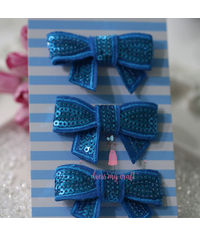 Sparkling Bow - Blue