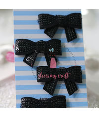 Sparkling Bow - Black