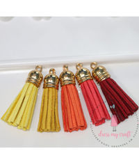 Small Faux Leather Tassel - Sunshine