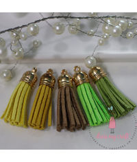 Small Faux Leather Tassel -  Brights