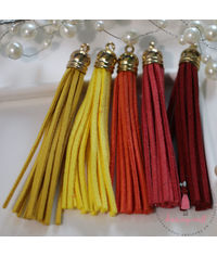 Large Faux Leather Tassel - Sunshine