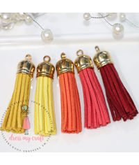 Medium Faux Leather Tassel - Sunshine