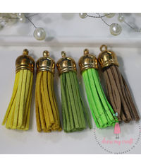 Medium Faux Leather Tassel - Brights