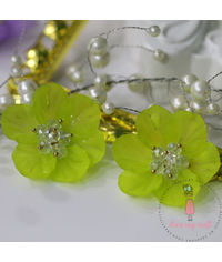 Small 3D Fairy Flowers - Lime Green