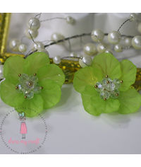 Small 3D Fairy Flowers - Green
