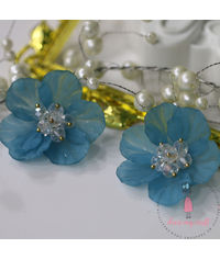 Small 3D Fairy Flowers - Blue