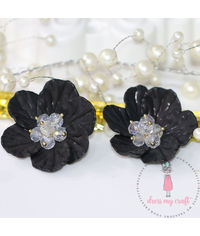 Small 3D Fairy Flowers - Black