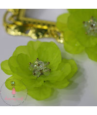 Big 3D Fairy Flowers - Lime Green