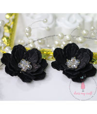 Big 3D Fairy Flowers - Black