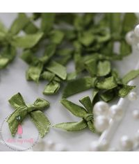 Ribbons Bow - Olive Green
