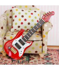 Miniature Red Guitar