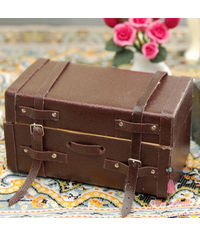 Miniature Antique Trunk Box