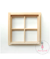Miniature Anywhere Wooden Window - Natural