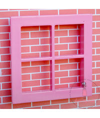 Miniature Anywhere Wooden Window - Pink