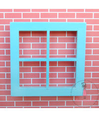 Miniature Anywhere Wooden Window - Baby Blue