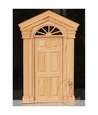 Miniature Anywhere  Wooden Carved Door