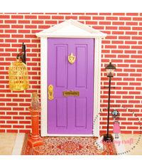 Miniature Anywhere Wooden Door - Purple