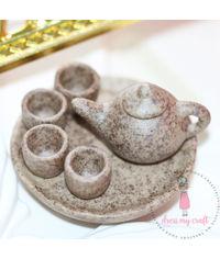 Miniature Terracotta Tea Set