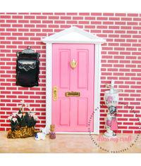 Miniature Anywhere Wooden Door - Baby Pink