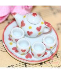 Miniature Hearts Tea Set