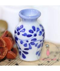 Miniature Hand Printed Vase # 1