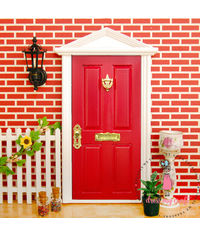 Miniature Anywhere Wooden Door - Red