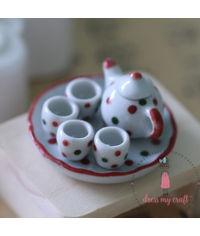 Miniature Dots Tea Set
