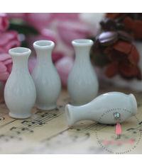 Miniature White Long Vase