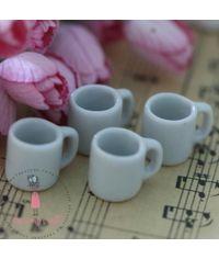 Miniature Coffee Mugs - White