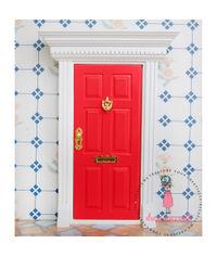 Miniature Anywhere Big Wooden Door - Red