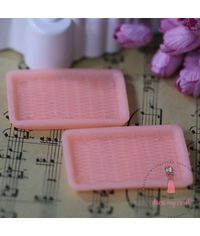 Miniature Serving Tray - Peach