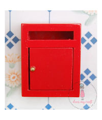 Miniature Letter Box - Red