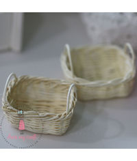 Miniature Wicker Basket - Square