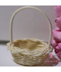 Miniature Wicker Flower Basket
