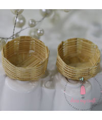 Miniature Vegetable Cane Basket #1
